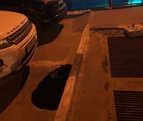 Воронежец пострадал, провалившись на парковке в яму глубиной 1,5 метра
