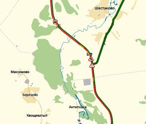 Пробка на воронежской трассе М-4 Дон в районе Лосево растянулась на 15 км