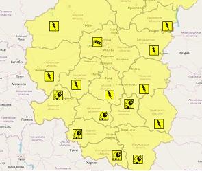 «Желтый уровень» опасности объявлен в Воронежской области в День России