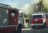 Пожар на улице Транспортной в Воронеже попал на видео