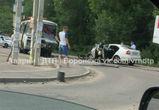 В Сети появилось видео с места аварии с участием автобуса и иномарки