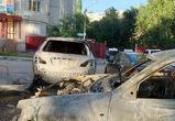На левом берегу Воронежа в ночь после матча Россия — Испания горели машины