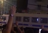 Очевидцы: Разгонять толпы болельщиков в центр Воронежа приехал грузовик ОМОН