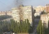 Очевидцы публикуют фото пожара в 16-этажном доме в Воронеже