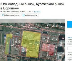 Два воронежских рынка продают на Avito за 890 миллионов рублей