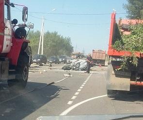 В ДТП с КамАЗом и 4 легковушками на выезде из Воронежа пострадали 4 женщины