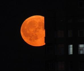 Снимки фантастической луны над Воронежем рассорили горожан