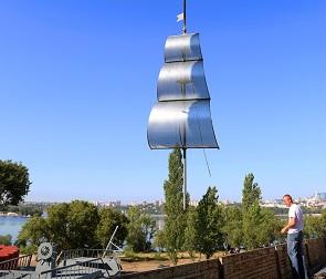 Появились фото и видео установки баркалона «Меркурий» в Воронеже