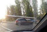 В полиции рассказали подробности ДТП со сбитым столбом в Воронеже