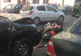 В аварии в центре Воронеже пострадал 17-летний мотоциклист