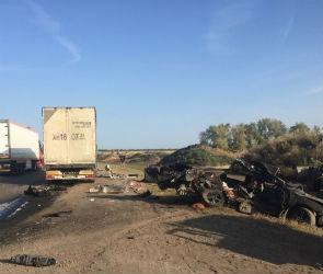 Трое взрослых и ребенок погибли в ДТП с фурой на трассе в Воронежской области