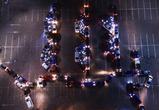 Автомобилисты поздравили воронежцев с Днем города фигурой баркалона «Меркурий»