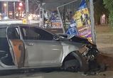 В Воронеже 19-летний лихач на Лифане протаранил остановку, погиб пешеход (фото)