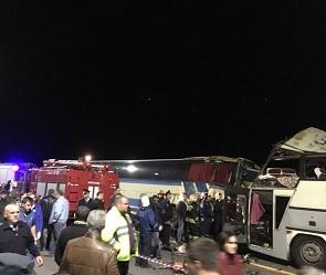 Опубликованы подробности и фото страшного ДТП с двумя автобусами под Воронежем