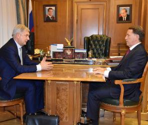 Гусев и Гордеев обсудили проект мусоросортировочного завода под Воронежем