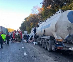 Названа причина ДТП с тремя грузовиками под Воронежем