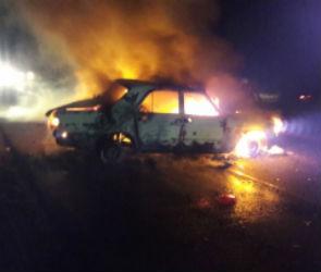 В центре Воронежа ночью сгорели две машины