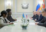 Воронежский губернатор и Жанна д`Арк из Руанды обсудили сферы сотрудничества