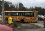 В Воронеже автобус с пассажирами провалился в яму на дороге