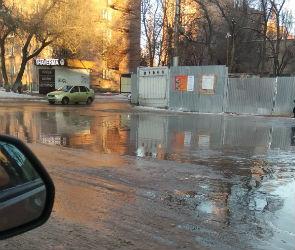Воронежцы пожаловались на потоп у Памятника Славы