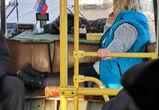 Кондуктор в расслабленной позе возмутила воронежцев