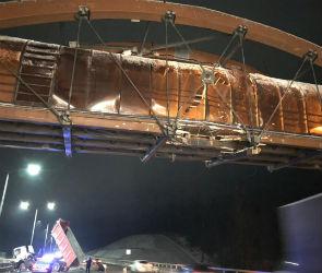 Из-за ремонта перехода, поврежденного фурой, ограничат проезд по М-4 «Дон»