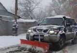 Внедорожник-снегоуборщик сняли на видео в Воронеже