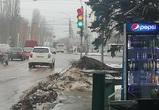 В Воронеже сфотографировали светофор с новогодним настроением