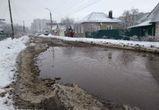 Воронежец сфотографировал «озеро», возникшее посреди улицы рядом с центром