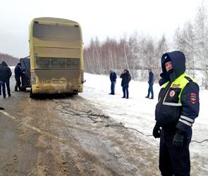 Под Воронежем эвакуировали пассажиров сломанного междугороднего автобуса: ФОТО