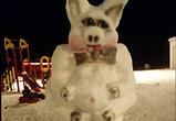 Воронежцы радуют авторскими снеговиками свинок и других персонажей (фото)