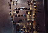 В честь Нового года воронежские водители выстроили изображение поросенка