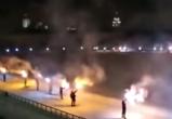 В честь дня рождения воронежского «Факела» фанаты устроили файер-шоу (видео)