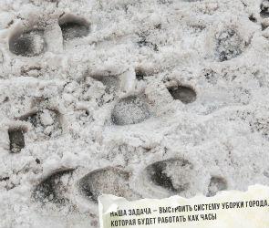 В Сети появились «обои для мэра» Воронежа с фотографиями нечищеных дорог
