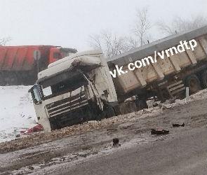 В Воронеже просят откликнутся очевидцев страшного ДТП с тремя фурами