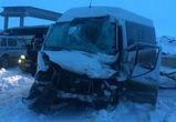 Опубликованы фото с места смертельного ДТП с двумя автобусами