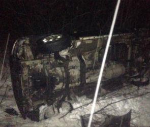 В Воронежской области перевернулся автобус с пассажирами