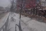 Момент ДТП с автобусом и иномаркой в центре Воронежа показали от первого лица