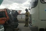 Опубликованы фото и подробности ДТП с ПАЗиком и ВАЗом на Северном мосту