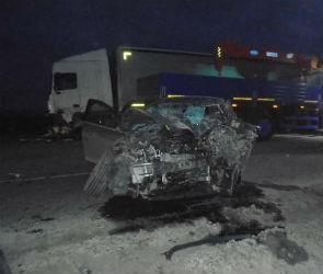 Два человека погибли в аварии с грузовиком под Воронежем