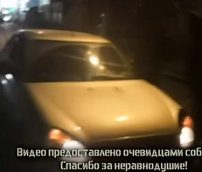 Полицейский уснул на «Ладе Приоре» посреди дороги в Воронеже