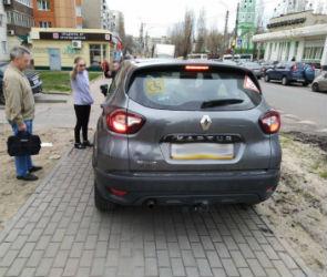 В Воронеже пенсионера-инвалида оштрафовали за езду по тротуару
