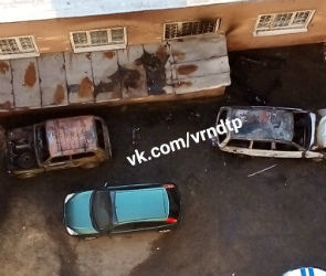 В Коминтерновском районе Воронежа огонь уничтожил две легковушки – фото
