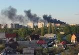 Воронежцы сняли на видео масштабный пожар на улице Землячки
