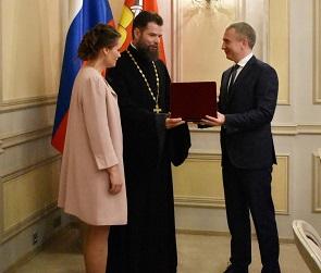 Многодетная семья священника из Воронежа удостоилась ордена «Родительская слава»
