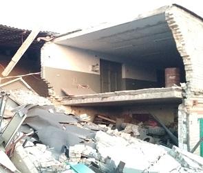 Из-за взрыва газового баллона в Воронеже разрушено семь гаражей – фото