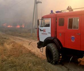 Спасателям удалось потушить очередной пожар на полигоне Погоново под Воронежем