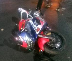Появились фото с мотоциклом в центре Воронежа