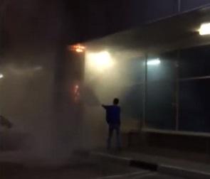В Воронеже ночью полыхала колонна гипермаркета «Лента» (видео)
