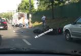В Воронеже байкер сбил мужчину, перебегавшего дорогу в запрещенном месте